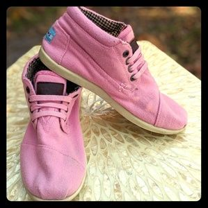 Toms Youth Pink Wool Bota Ankle Boots